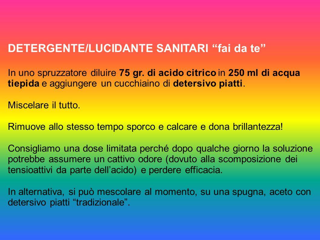 DETERGENTE/LUCIDANTE SANITARI fai da te