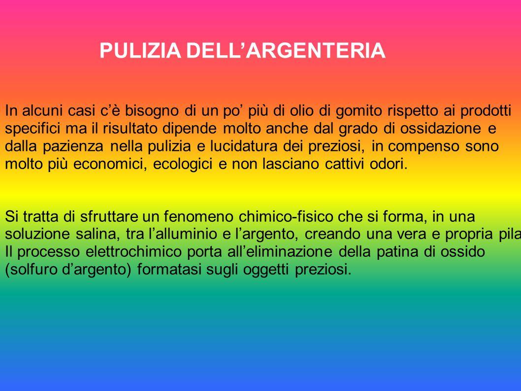 PULIZIA DELL'ARGENTERIA