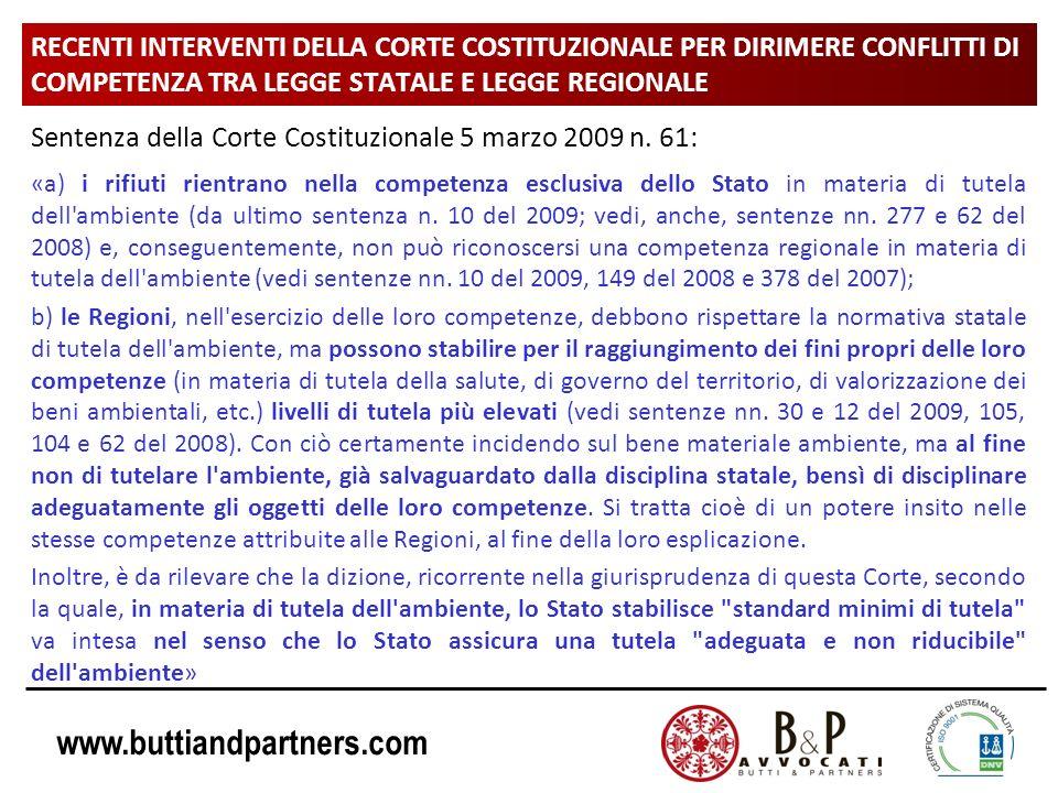 Sentenza della Corte Costituzionale 5 marzo 2009 n. 61: