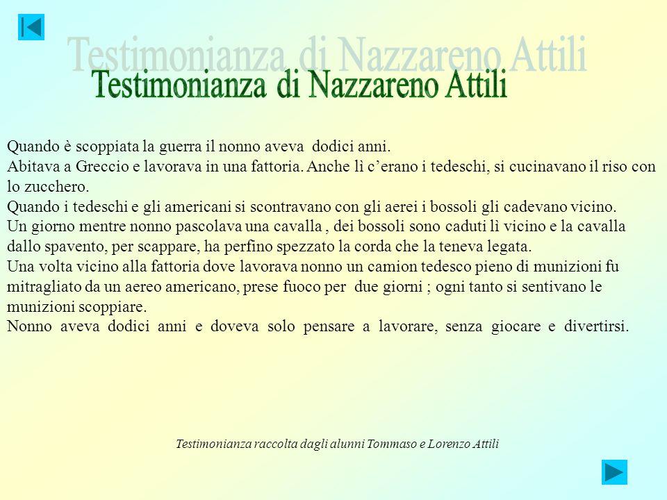 Testimonianza di Nazzareno Attili