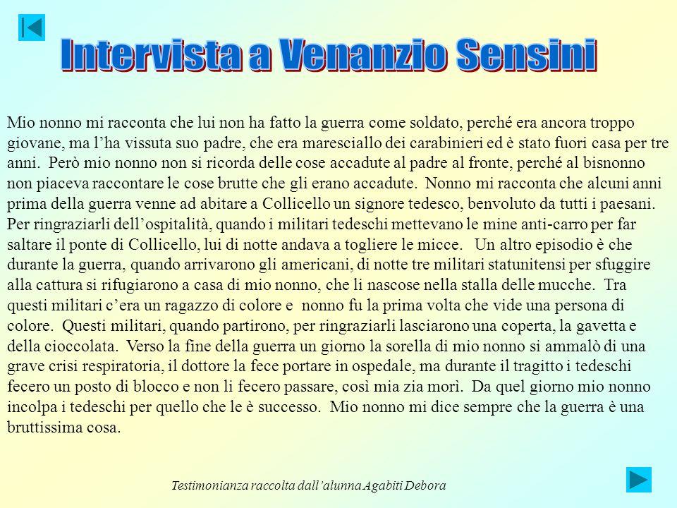 Intervista a Venanzio Sensini