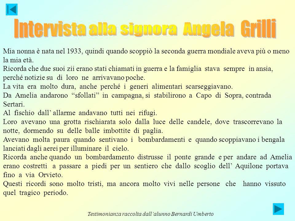 Intervista alla signora Angela Grilli