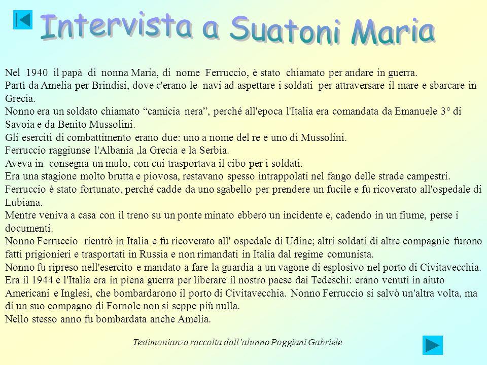 Intervista a Suatoni Maria