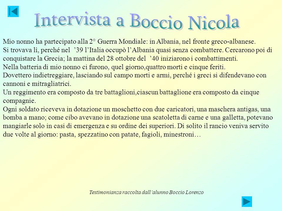 Intervista a Boccio Nicola