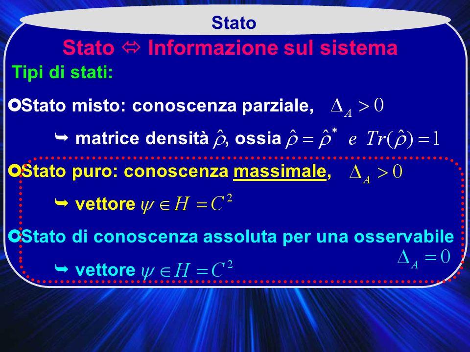 Stato  Informazione sul sistema