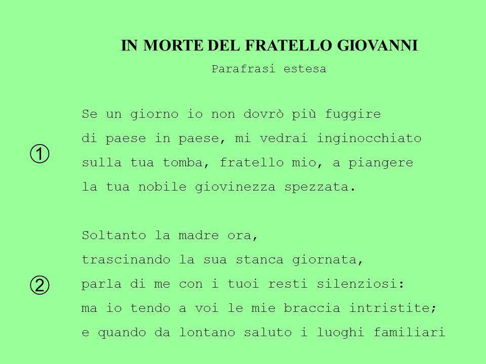 IN MORTE DEL FRATELLO GIOVANNI
