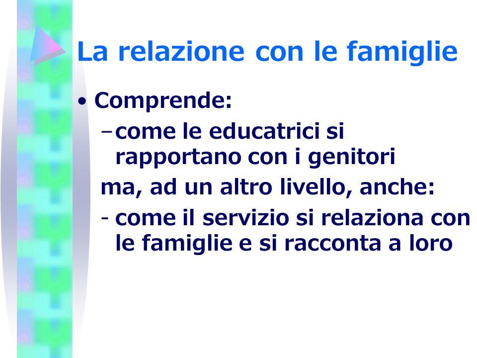 La relazione con le famiglie