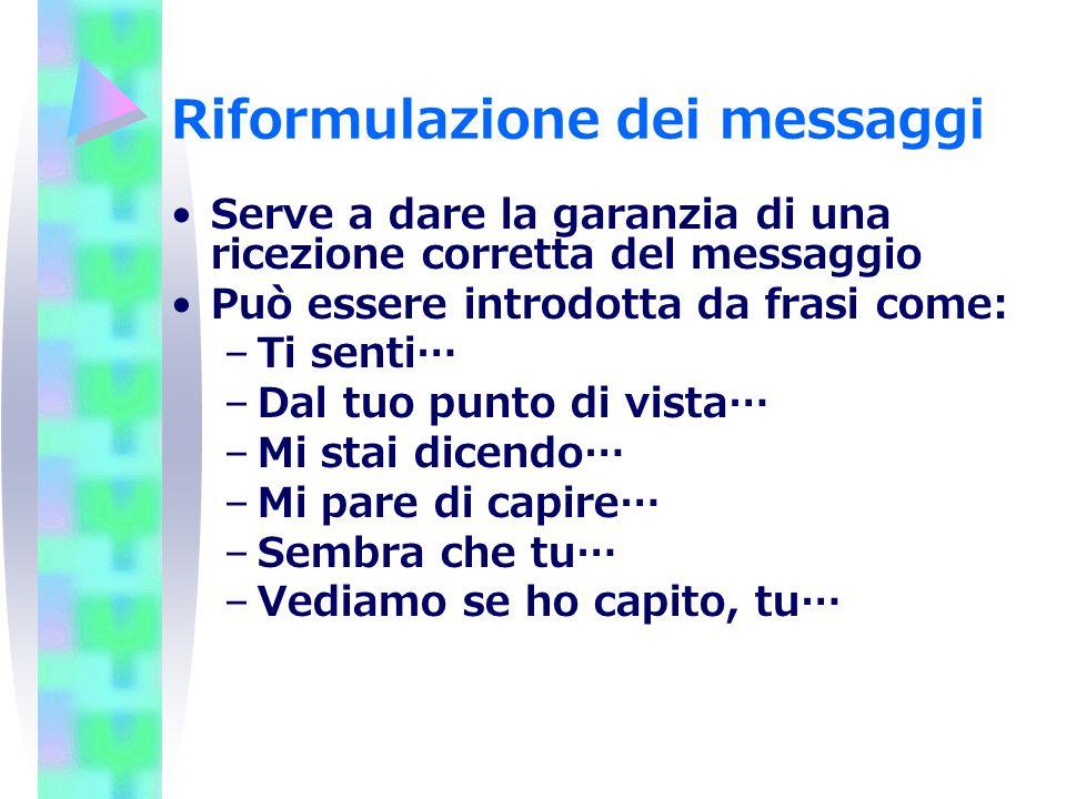 Riformulazione dei messaggi