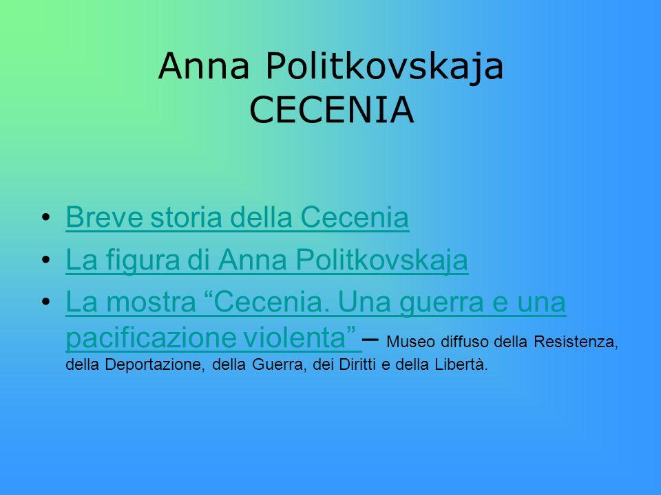 Anna Politkovskaja CECENIA