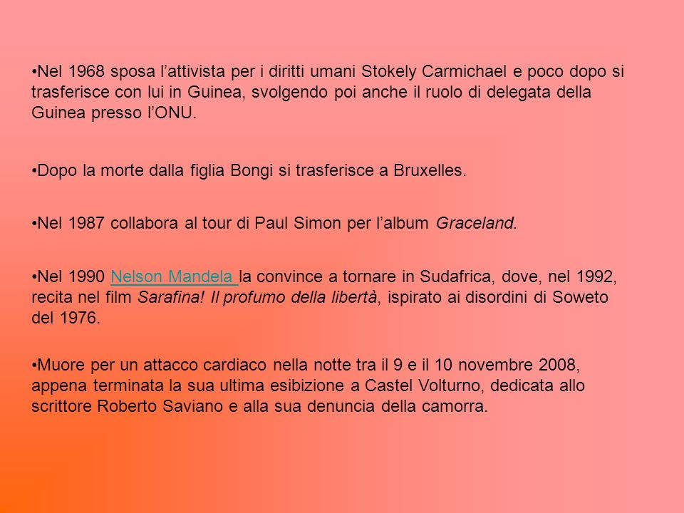 Dopo la morte dalla figlia Bongi si trasferisce a Bruxelles.