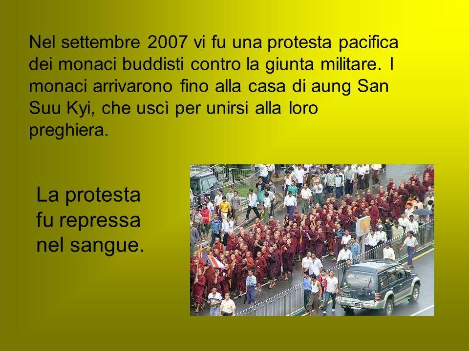 La protesta fu repressa nel sangue.