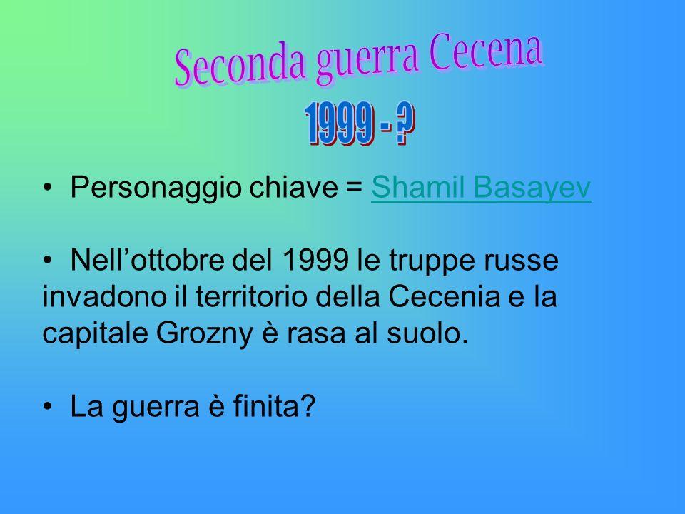1999 - Personaggio chiave = Shamil Basayev