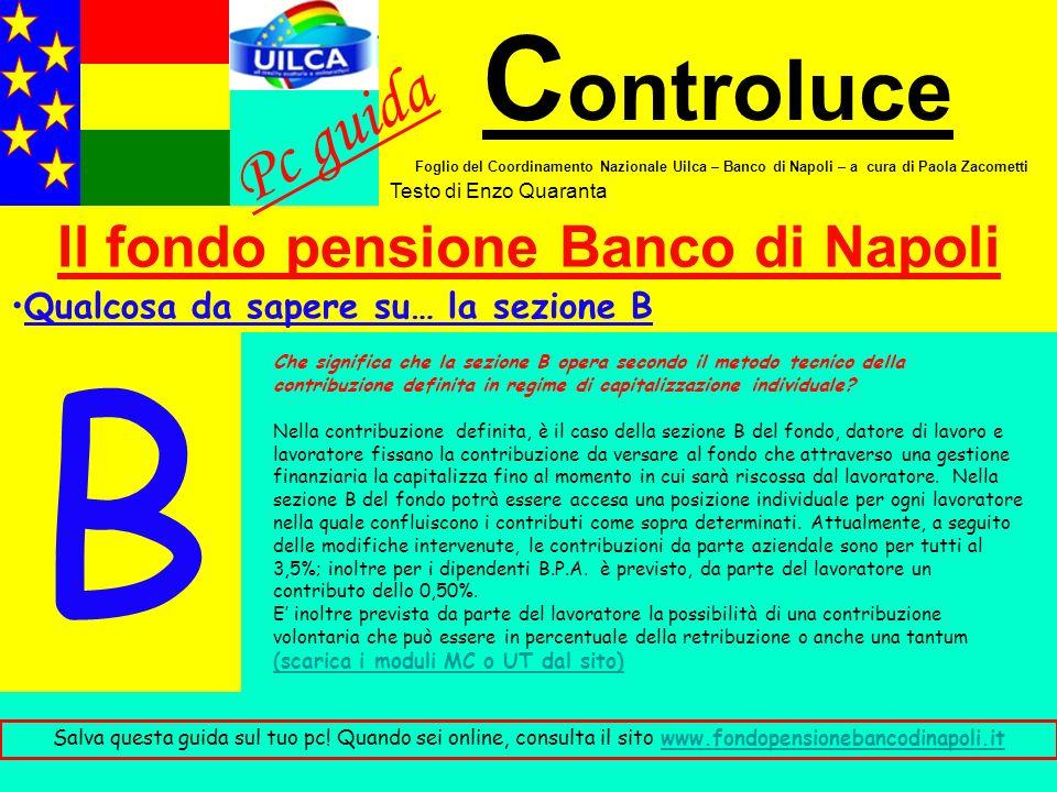 Il fondo pensione Banco di Napoli