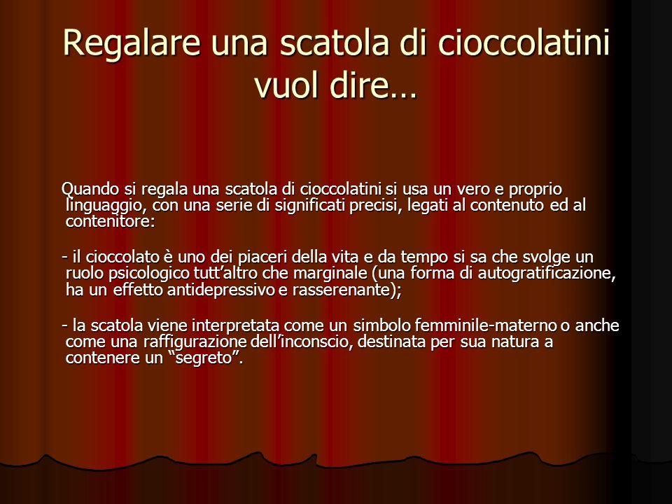 Regalare una scatola di cioccolatini vuol dire…