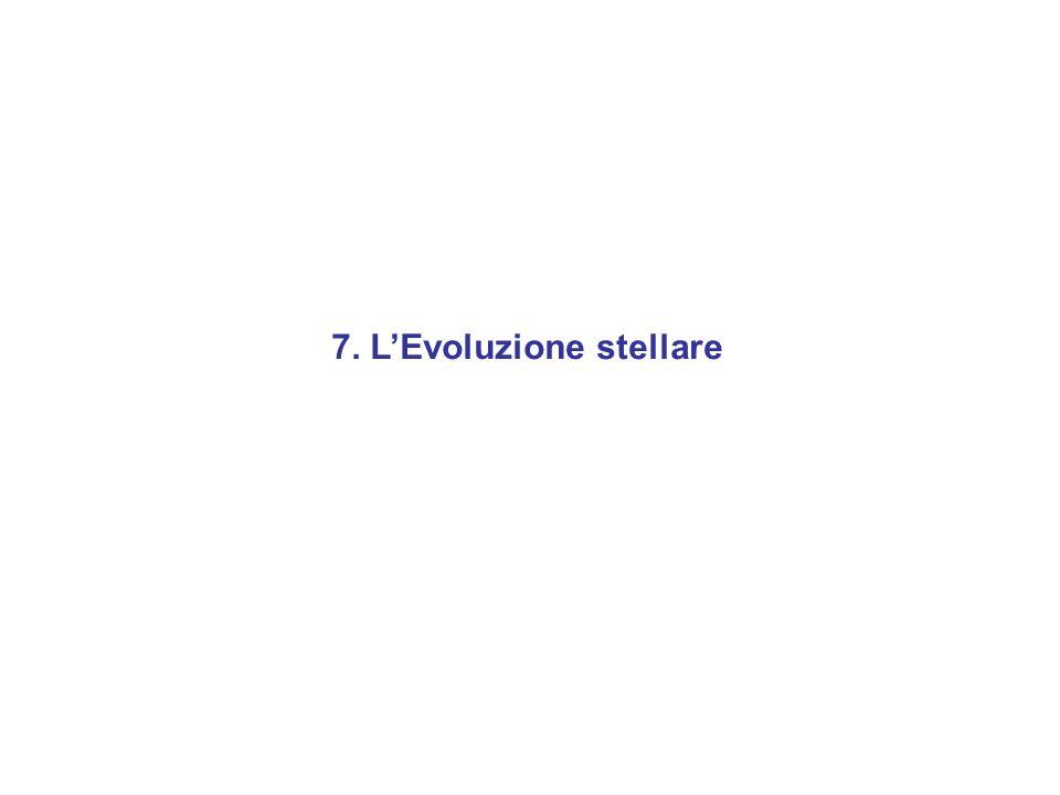 7. L'Evoluzione stellare