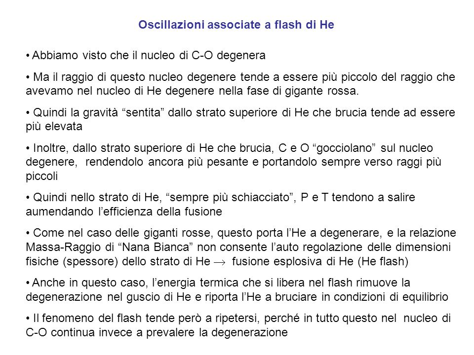 Oscillazioni associate a flash di He