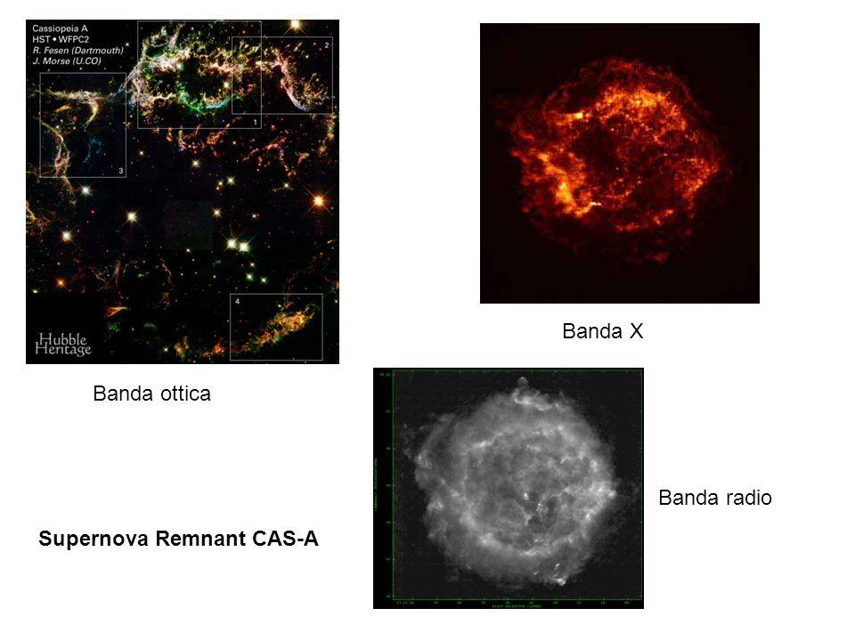 Banda X Banda ottica Banda radio Supernova Remnant CAS-A