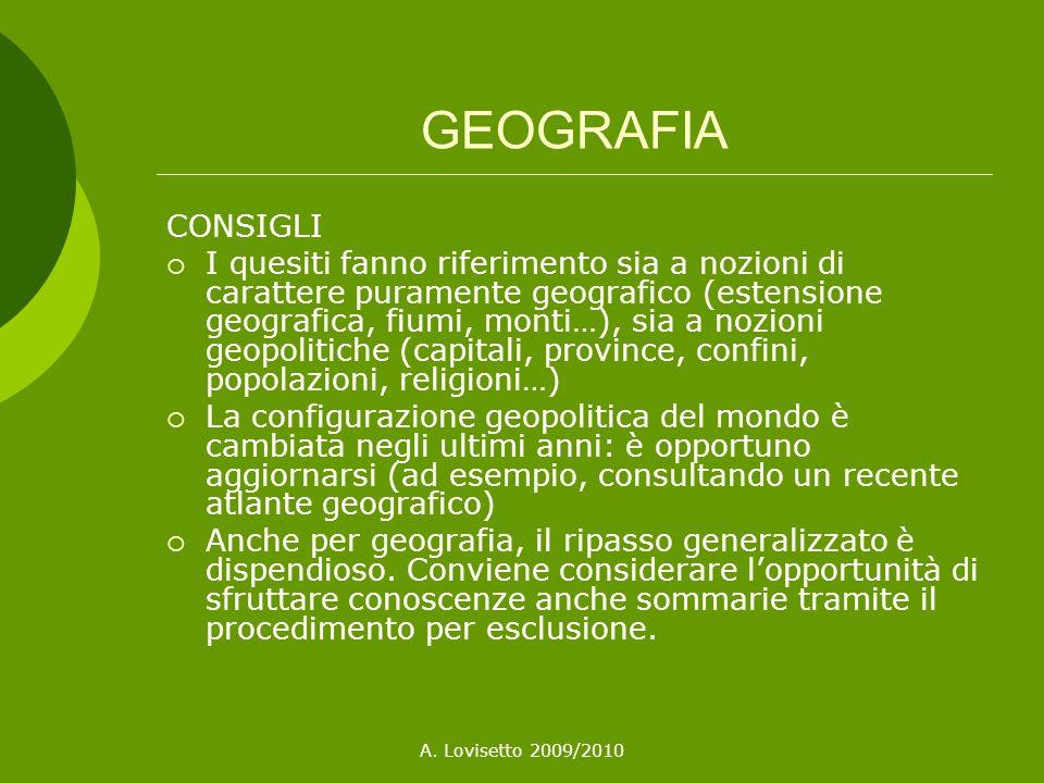 GEOGRAFIA CONSIGLI.