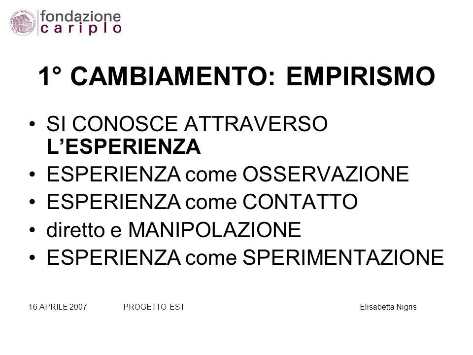 1° CAMBIAMENTO: EMPIRISMO