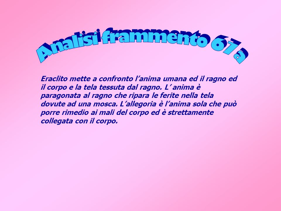 Analisi frammento 67a