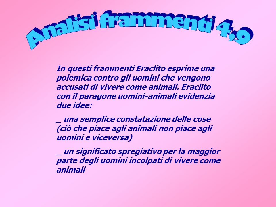 Analisi frammenti 4,9