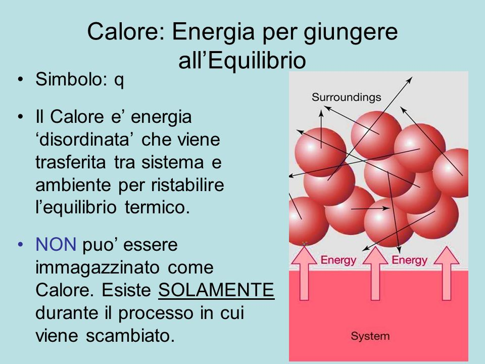 Calore: Energia per giungere all'Equilibrio