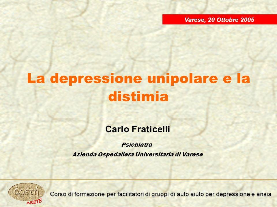 La depressione unipolare e la distimia