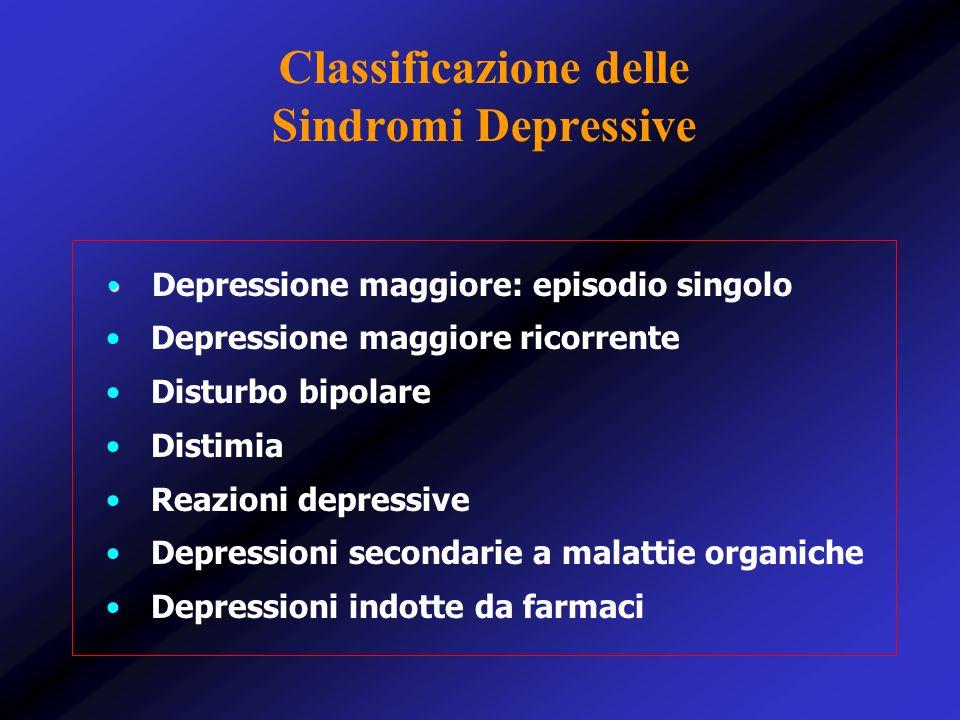 Classificazione delle Sindromi Depressive