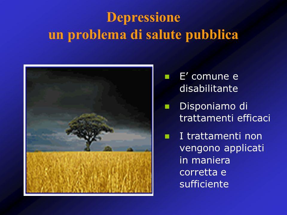 Depressione un problema di salute pubblica