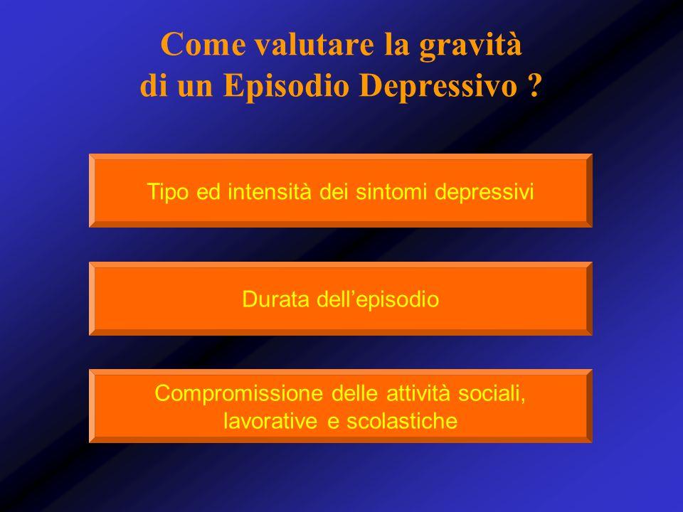 Come valutare la gravità di un Episodio Depressivo