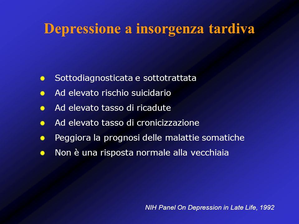 Depressione a insorgenza tardiva