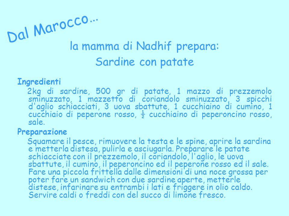 la mamma di Nadhif prepara:
