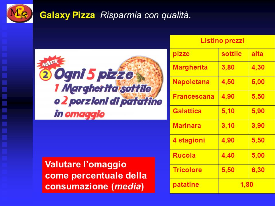 Galaxy Pizza Risparmia con qualità.