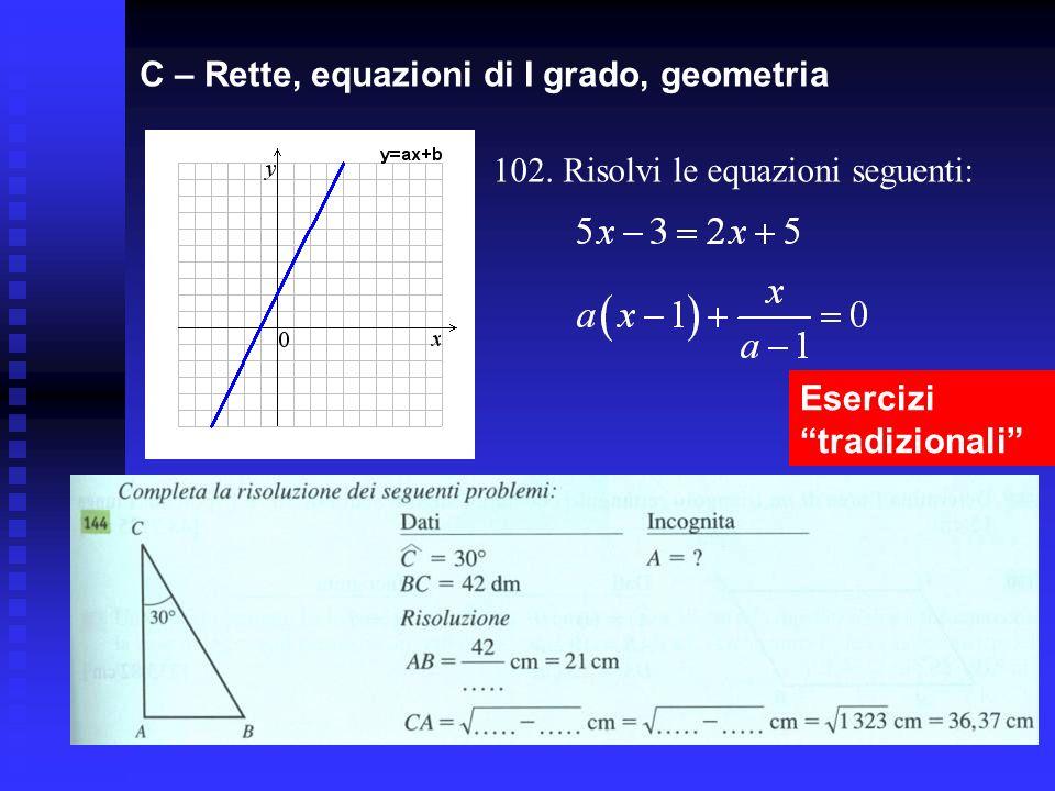 C – Rette, equazioni di I grado, geometria