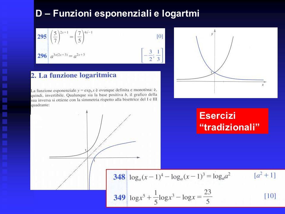 D – Funzioni esponenziali e logartmi