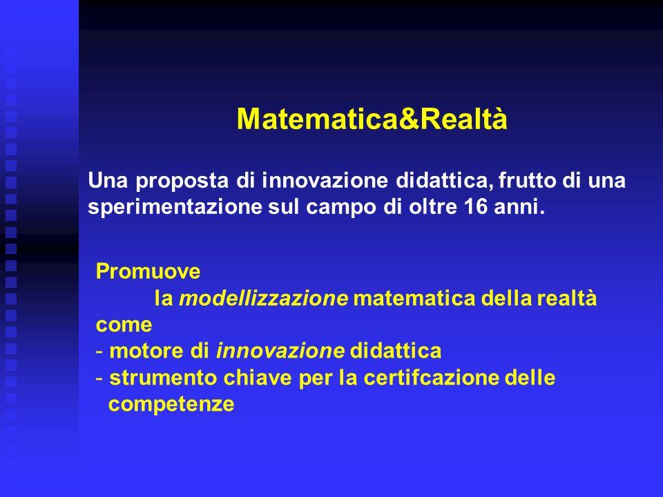 la modellizzazione matematica della realtà