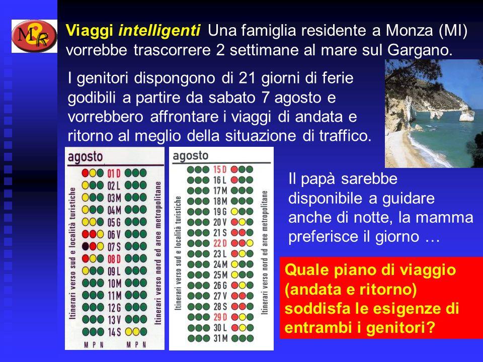 Viaggi intelligenti Una famiglia residente a Monza (MI) vorrebbe trascorrere 2 settimane al mare sul Gargano.