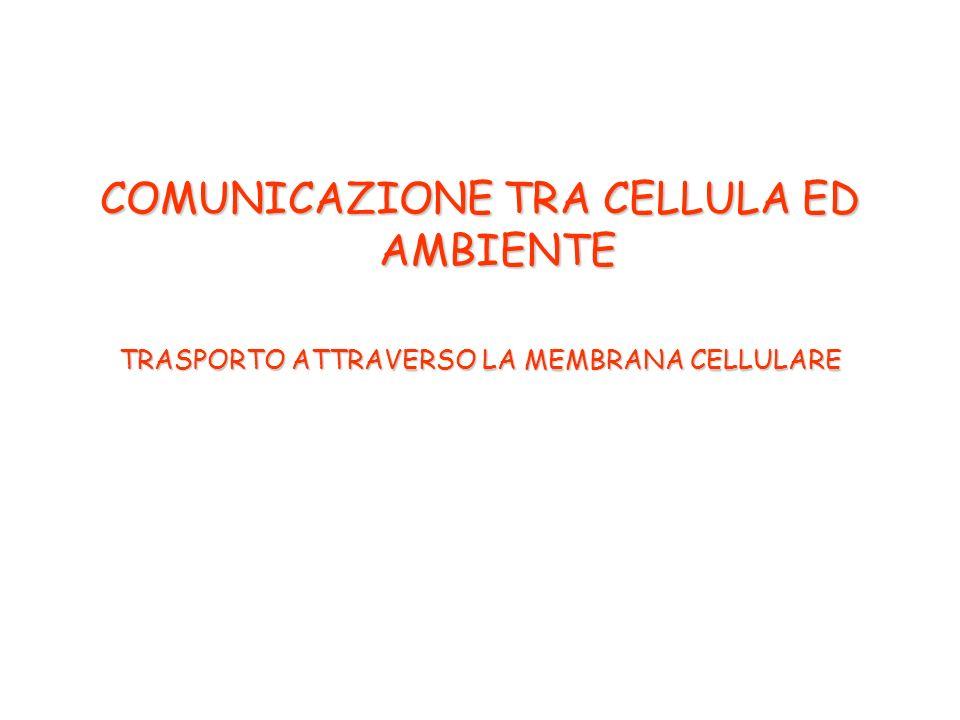 COMUNICAZIONE TRA CELLULA ED AMBIENTE