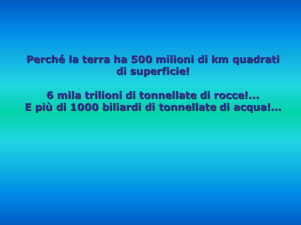 Perché la terra ha 500 milioni di km quadrati di superficie!