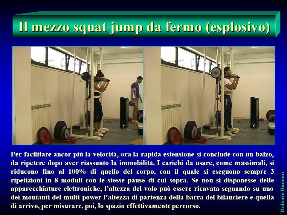 Il mezzo squat jump da fermo (esplosivo)