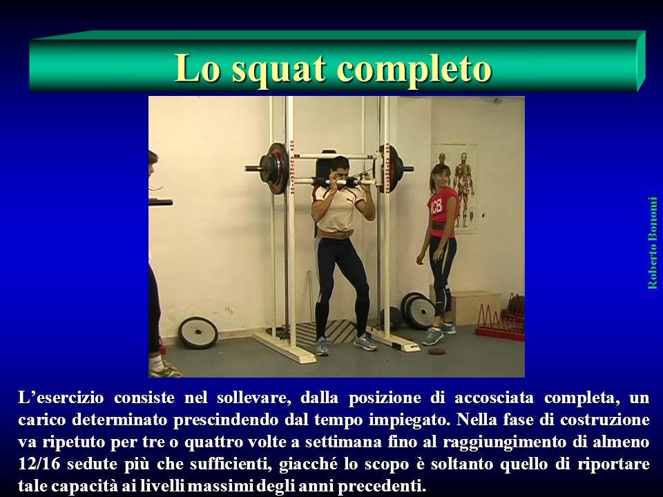 Lo squat completo Roberto Bonomi.