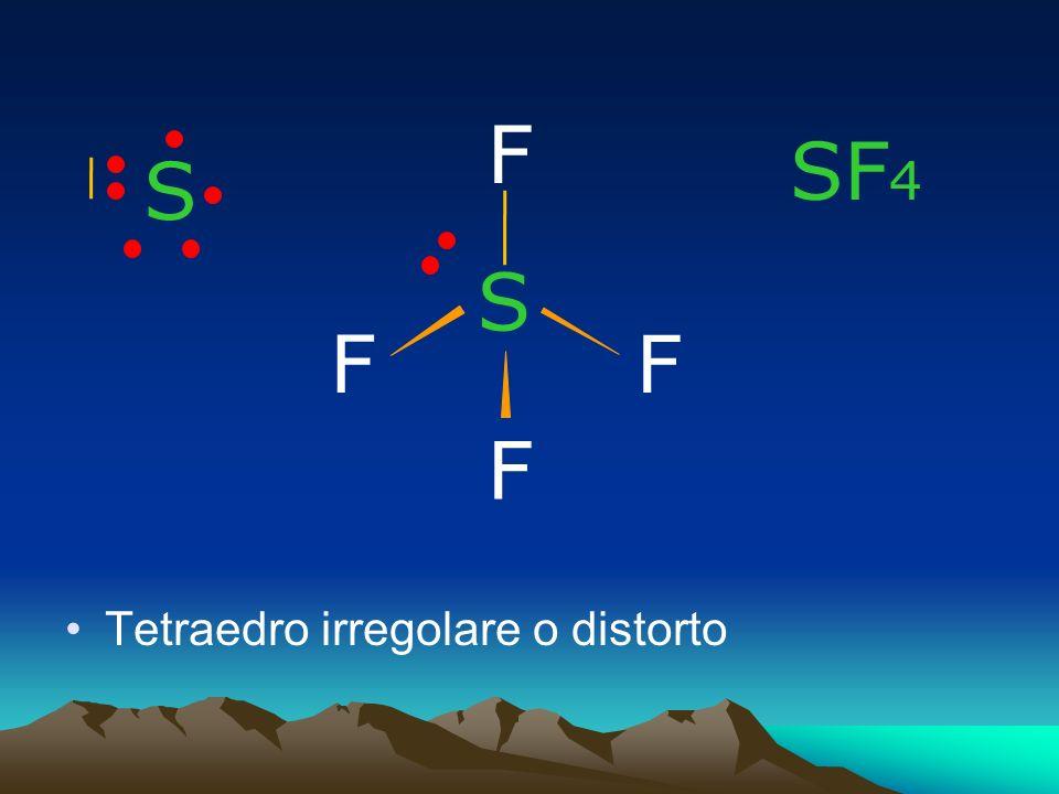 F SF4 S S F F F Tetraedro irregolare o distorto