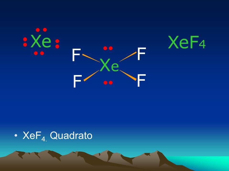 Xe XeF4 F F Xe F F XeF4. Quadrato
