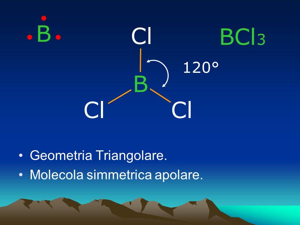 B Cl BCl3 B Cl Cl 120° Geometria Triangolare.