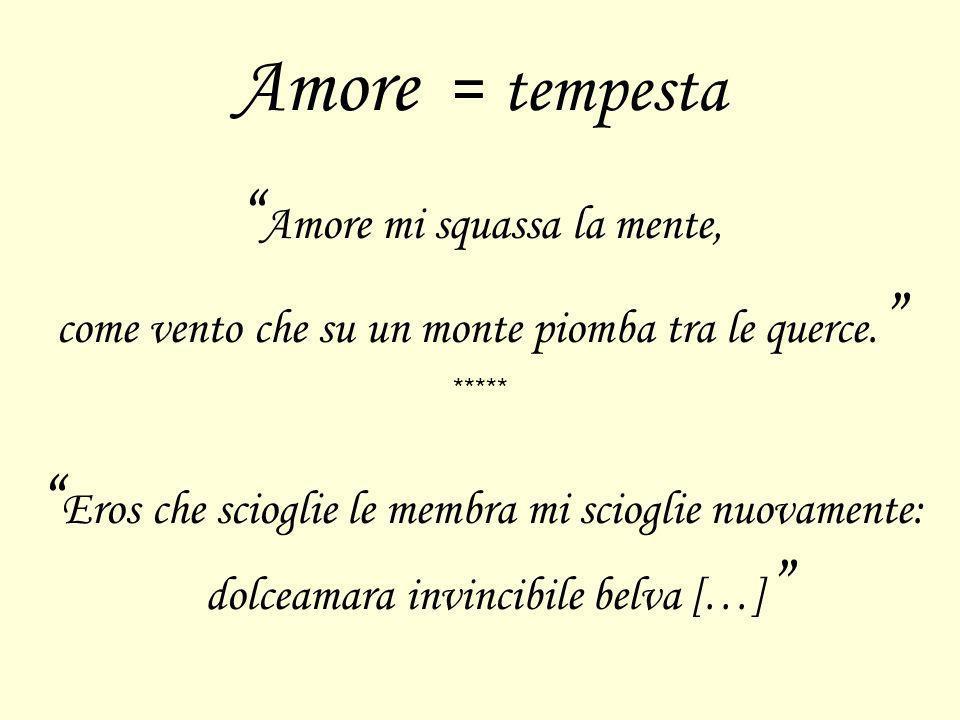Amore = tempesta Amore mi squassa la mente,