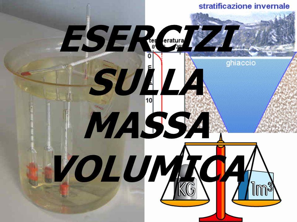 ESERCIZI SULLA MASSA VOLUMICA