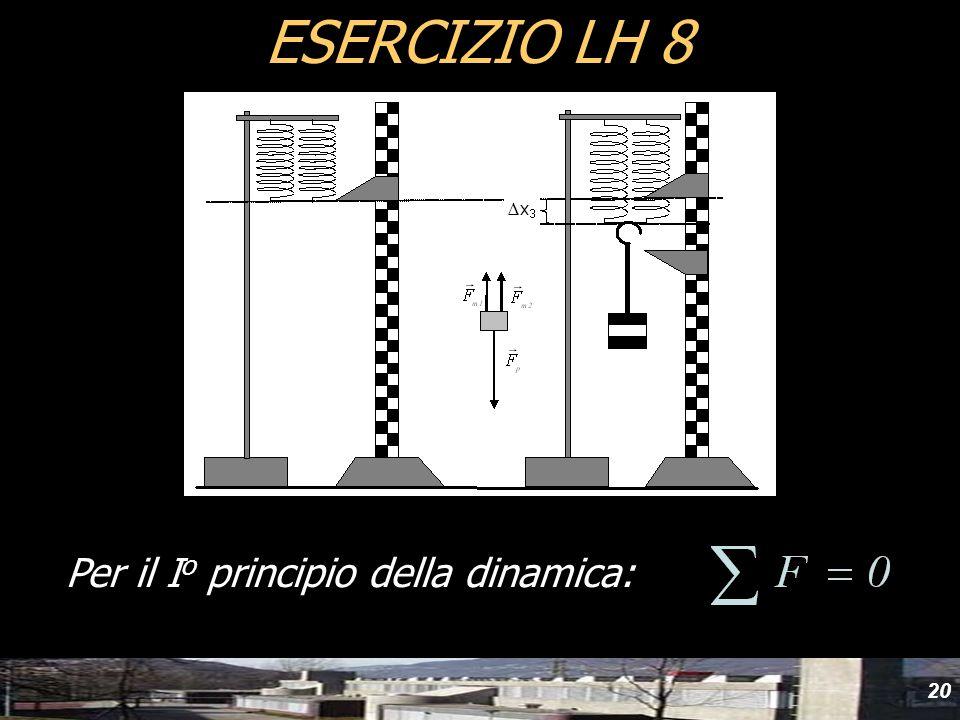 yyd ESERCIZIO LH 8 Per il Io principio della dinamica: