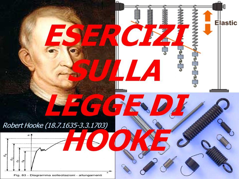 ESERCIZI SULLA LEGGE DI HOOKE