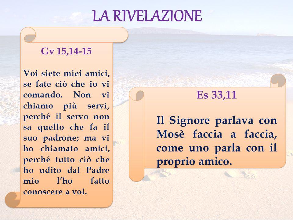 LA RIVELAZIONE Gv 15,14-15.