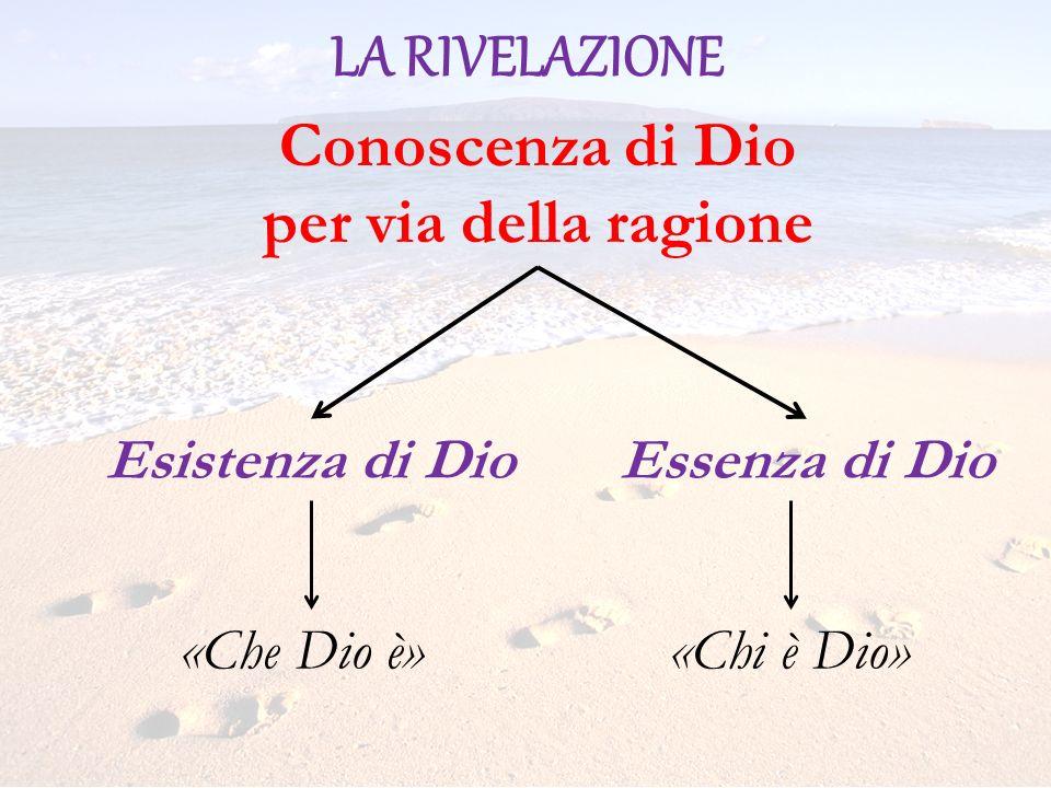 LA RIVELAZIONE Conoscenza di Dio per via della ragione